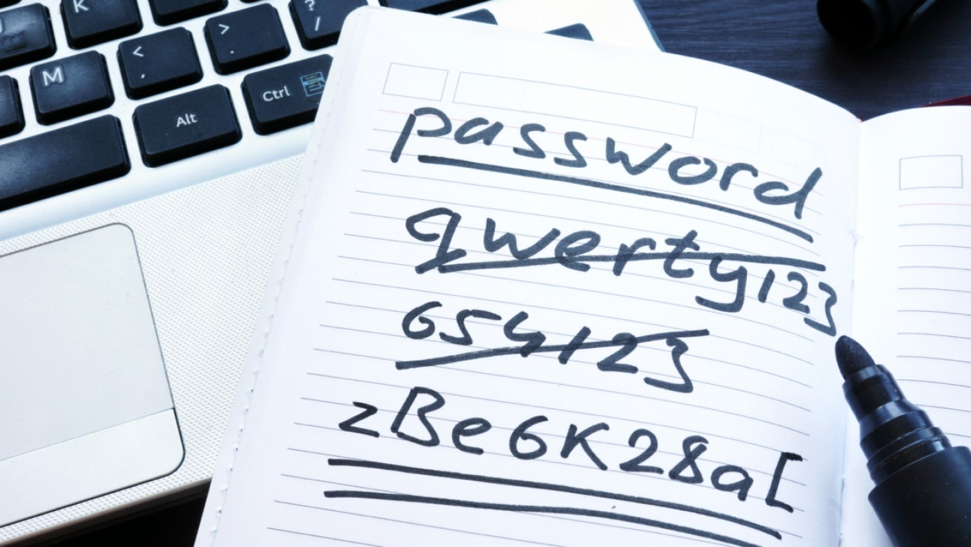 Handwritten examples of password strength