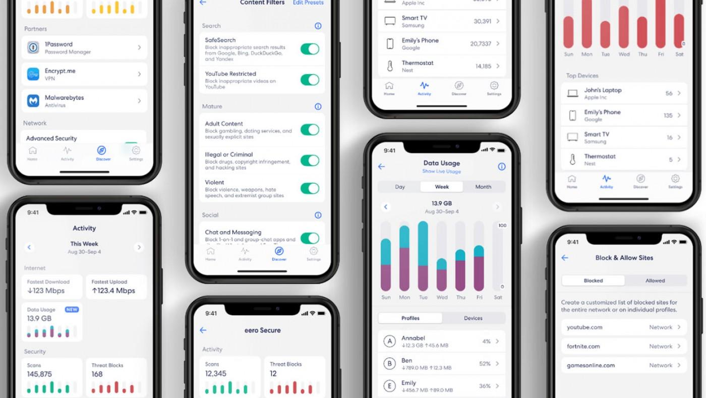 eero app screenshots